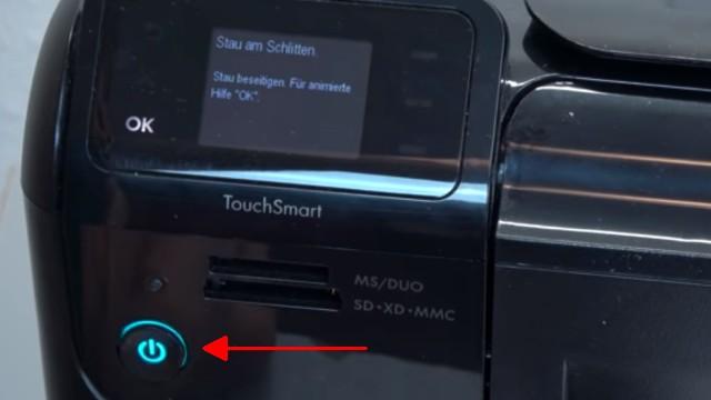 HP Drucker Patronenwagen blockiert - Stau am Schlitten beseitigen - Fehlermeldung im Display - LED blinkt