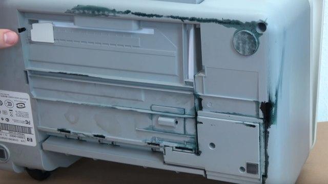 HP Drucker Tintenauffangbehälter voll - Tinte läuft unten aus dem Drucker - Druckertinte läuft unten aus dem Gehäuse