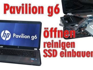 HP Pavilion g6 Laptop öffnen - Lüfter reinigen SSD einbauen Tastatur ausbauen