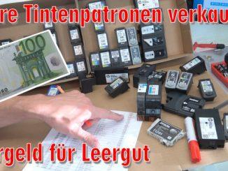 Leere Tintenpatronen verkaufen - Bargeld für Leergut - Druckerpatronen HP Canon Epson Brother