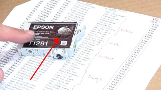 Leere Tintenpatronen verkaufen - Bargeld für Leergut - Druckerpatronen HP Canon Epson Brother - Epson Patronen ohne Druckkopf nicht (mehr) entsorgen