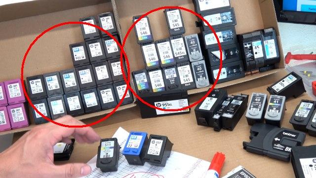 Leere Tintenpatronen verkaufen - Bargeld für Leergut - Druckerpatronen HP Canon Epson Brother - Druckpatronen nach Hersteller und Sorten sortieren und anbieten