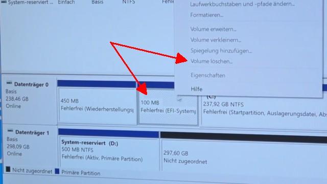 Windows 10 - Festplatte löschen - alle geschützten Partitionen entfernen ohne Extrasoftware - Systempartitionen lassen sich so nicht löschen