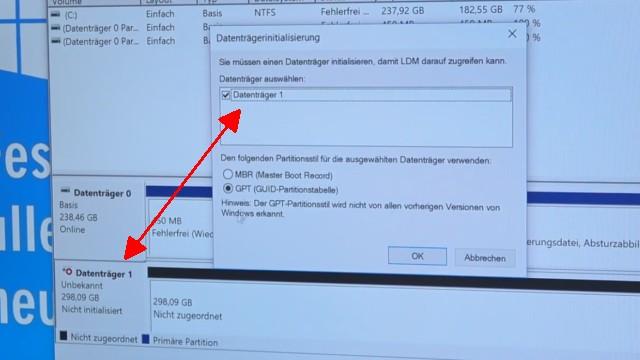 Windows 10 - Festplatte löschen - alle geschützten Partitionen entfernen ohne Extrasoftware - Festplatte/SSD neu initialisieren MBR oder GPT