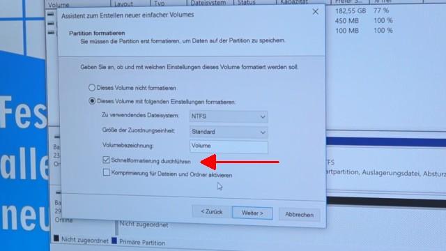 Windows 10 - Festplatte löschen - alle geschützten Partitionen entfernen ohne Extrasoftware - Schnellformatierung oder normale Formatierung