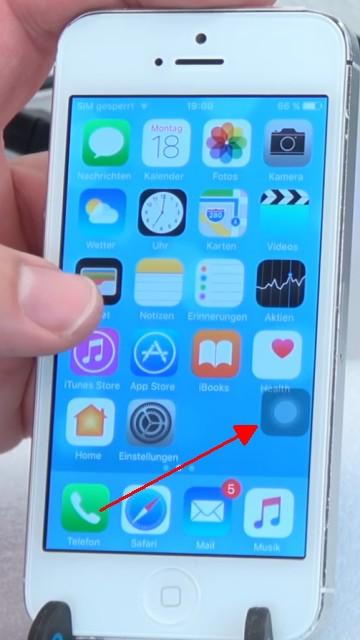 """iPhone Knöpfe funktionieren nicht - Home Button + Lautstärke + Ein-Schalter per Software - """"Assistive Touch"""" Symbol wird automatisch heller"""