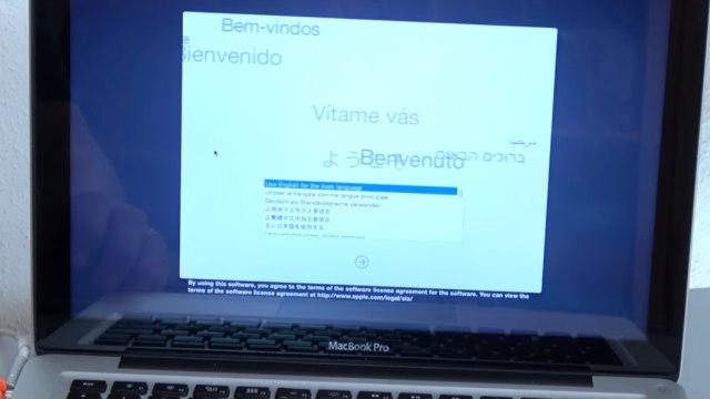 Apple MacBook Pro auf Werkseinstellung zurücksetzen - Festplatte löschen - OSX neu installieren - Sprache aussuchen
