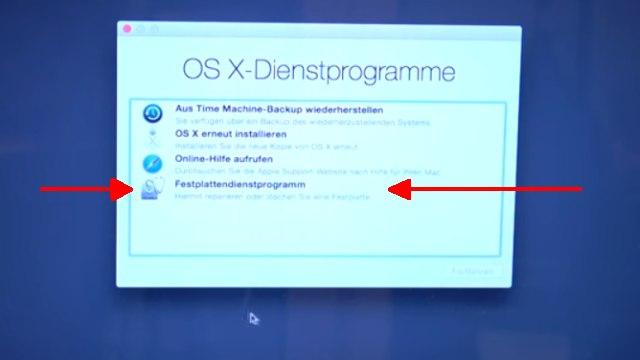Apple MacBook Pro auf Werkseinstellung zurücksetzen - Festplatte löschen - OSX neu installieren - Festplattendienstprogramm löscht die Festplatte