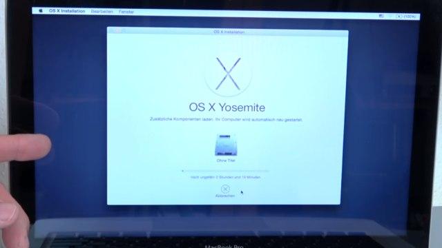 Apple MacBook Pro auf Werkseinstellung zurücksetzen - Festplatte löschen - OSX neu installieren - OS X Installation kann 1-2 Stunden dauern