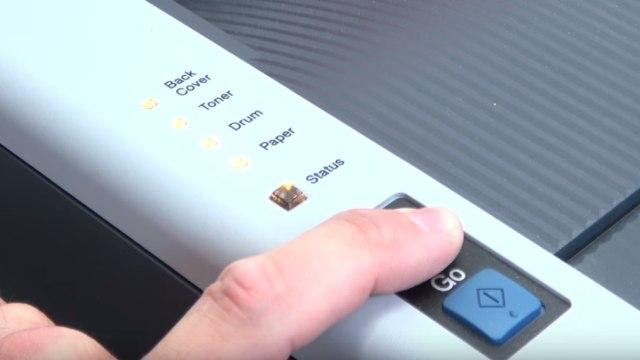 Brother Laserdrucker druckt Schatten Streifen - Ausdruck erscheint doppelt Grauschleier - Status-LEDs prüfen