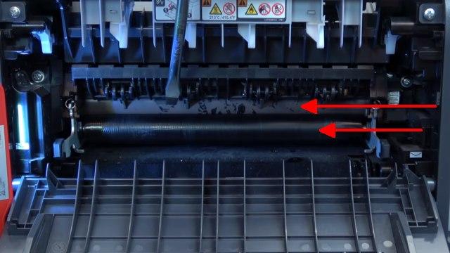 Brother Laserdrucker druckt Schatten Streifen - Ausdruck erscheint doppelt Grauschleier - Heizwalze beschädigt