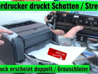 Brother Laserdrucker druckt Schatten Streifen - Ausdruck erscheint doppelt Grauschleier
