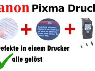 Canon Pixma 3 Fehler in einem Drucker - 5100 - Tintenpatrone defekt - druckt doppelt
