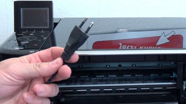 Canon Pixma 3 Fehler in einem Drucker - 5100 - Tintenpatrone defekt - druckt doppelt - Stromstecker herausziehen