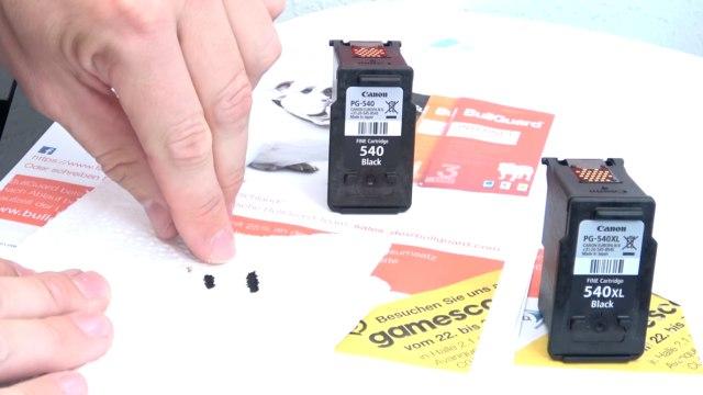 Canon Pixma 3 Fehler in einem Drucker - 5100 - Tintenpatrone defekt - druckt doppelt - Düsen bei Original-Tintenpatrone defekt