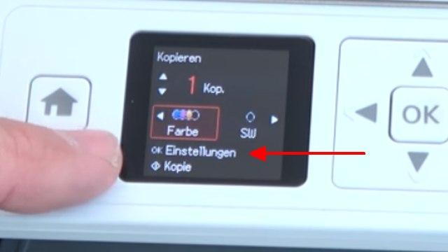 Epson Drucker druckt extrem langsam und verbraucht zu viel Tinte - Druckerdisplay - Einstellungen