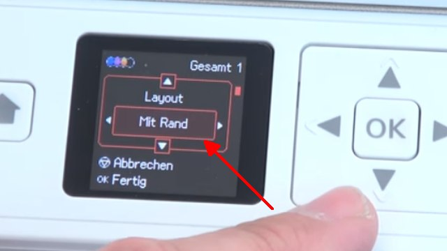 Epson Drucker druckt extrem langsam und verbraucht zu viel Tinte - Druckerdisplay - Einstellungen Rand