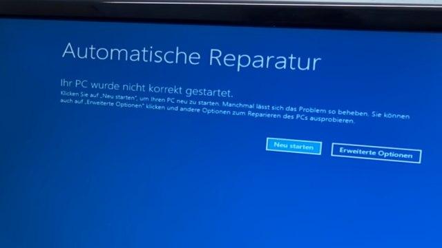 Falscher Microsoft Techniker verschlüsselt PC - Abzockanruf - Windows 10 wieder freischalten - Windows 10 bootet in automatische Reparatur