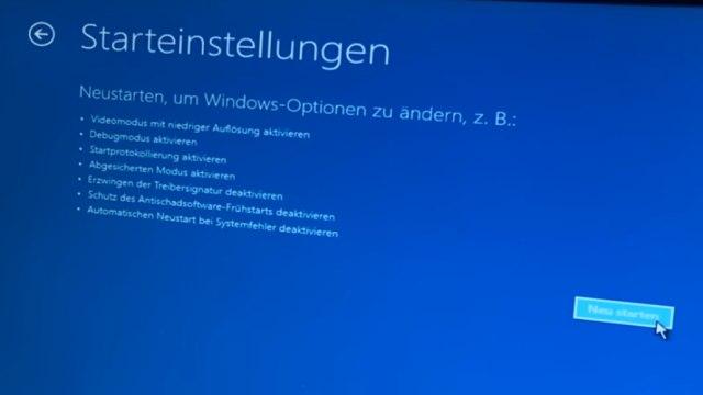 Falscher Microsoft Techniker verschlüsselt PC - Abzockanruf - Windows 10 wieder freischalten - Starteinstellungen