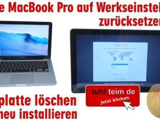 Apple MacBook Pro auf Werkseinstellung zurücksetzen - Festplatte löschen - OSX neu installieren