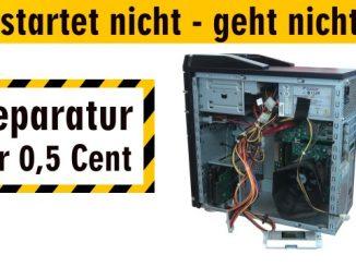 PC startet nicht - geht nicht an - Reparatur für 0,5 Cent - Computer ohne Funktion