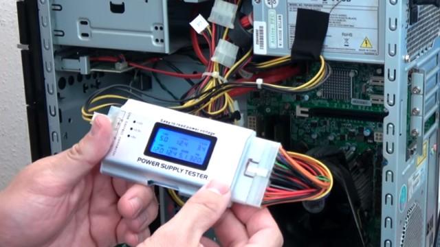 PC startet nicht - geht nicht an - Reparatur für 0,5 Cent - Computer ohne Funktion - Netzteil mit ATX-Netzteiltester prüfen