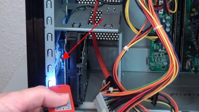 PC startet nicht - geht nicht an - Reparatur für 0,5 Cent - Computer ohne Funktion - Schaltereinheit nicht zu sehen
