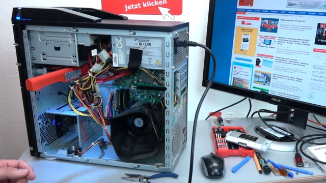 PC startet nicht - geht nicht an - Reparatur für 0,5 Cent - Computer ohne Funktion - PC funktioniert wieder