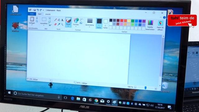 Windows 10 Screenshot Bildschirmfoto machen ohne Extrasoftware - speichern, drucken oder in Word einfügen - Paint gestartet