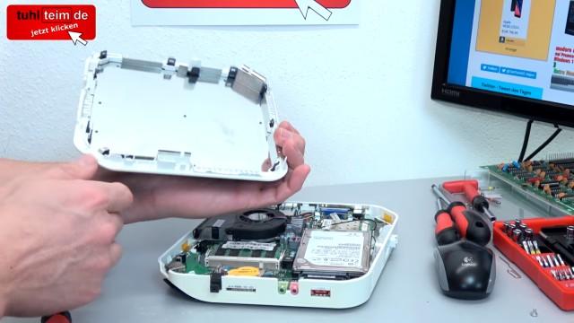 Acer Aspire Revo mini PC öffnen + Festplatte SSD ausbauen | Lüfter RAM CMOS - Plastikdeckel ganz abheben