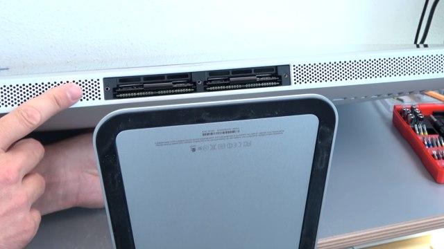 Apple iMac 27 Retina | Pro öffnen - Scheibe entfernen - Display HDD ausbauen - Unterseite - RAM-Module - auch keine Schrauben
