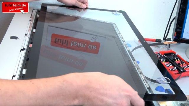 Apple iMac 27 Retina | Pro öffnen - Scheibe entfernen - Display HDD ausbauen - Scheibe herausziehen
