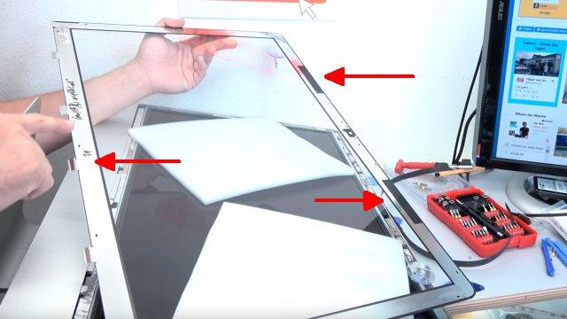 Apple iMac 27 Retina | Pro öffnen - Scheibe entfernen - Display HDD ausbauen - Klammern / Laschen und Magnetstreifen