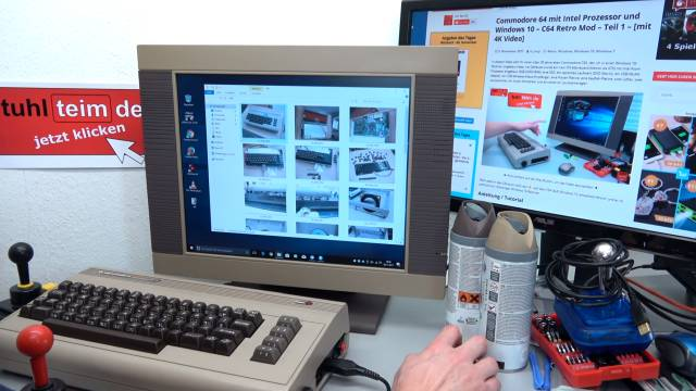 Commodore 64 Spiele DosBox Emulator D-Fend Reloaded - Umbau - C64 Retro Mod - Bilder vom Umbau