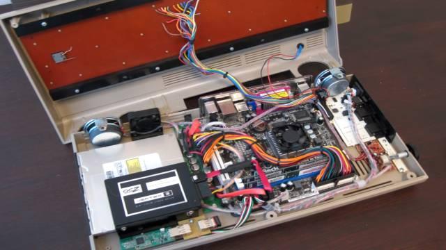 Commodore 64 Spiele DosBox Emulator D-Fend Reloaded - Umbau - C64 Retro Mod - mini ITX Platine mit Windows 10