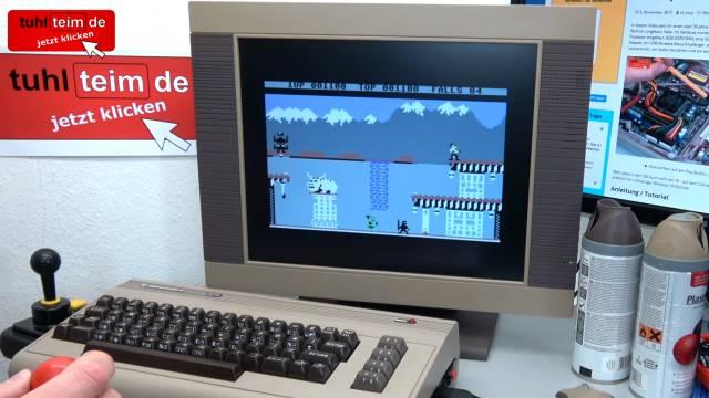 Commodore 64 Spiele DosBox Emulator D-Fend Reloaded - Umbau - C64 Retro Mod - C64 8-Bit Bruce Lee mit original Competition Pro Joystick auf Windows 10