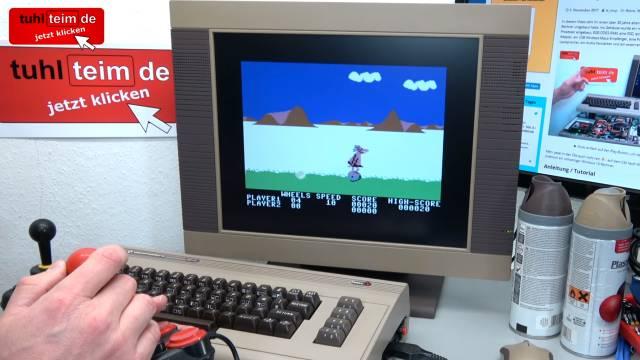 """Commodore 64 Spiele DosBox Emulator D-Fend Reloaded - Umbau - C64 Retro Mod - C64 8-Bit """"BC's Quest for Tires"""" mit original Competition Pro Joystick auf Windows 10"""