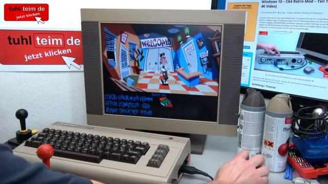 "Commodore 64 Spiele DosBox Emulator D-Fend Reloaded - Umbau - C64 Retro Mod - ""Day Of The Tentacle"" DOTT auf Windows 10 mit Maussteuerung"