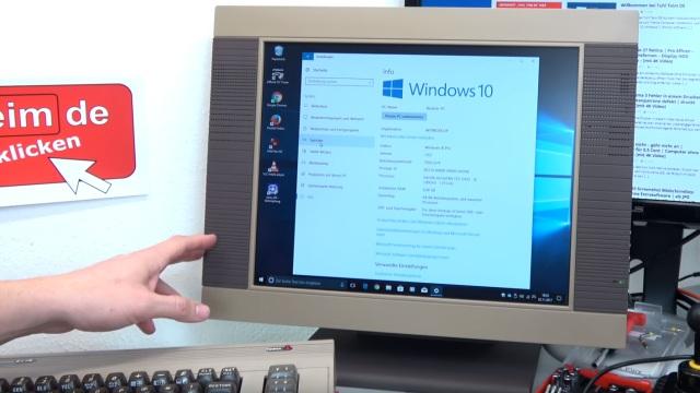 Commodore 64 mit Intel Prozessor und Windows 10 - C64 Retro Mod - hier läuft Windows 10