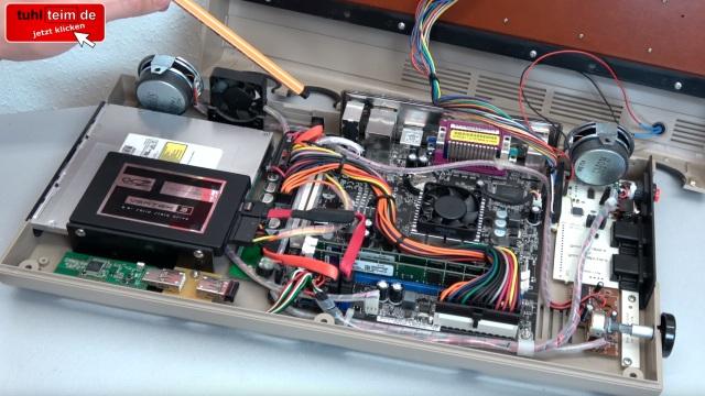 Commodore 64 mit Intel Prozessor und Windows 10 - C64 Retro Mod - mini-ITX-Mainboard, Intel Atom, SSD und Keyrah