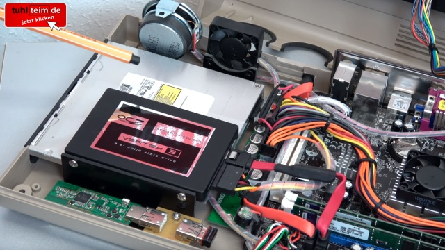 Commodore 64 mit Intel Prozessor und Windows 10 - C64 Retro Mod - optisches Laufwerk, Lüfter, WLAN und Maus-Adapter
