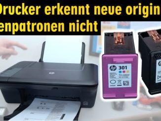 Hewlett-Packard Drucker originale neue Tintenpatronen werden nicht erkannt nach Wechseln