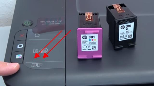 Hewlett-Packard Drucker originale neue Tintenpatronen werden nicht erkannt nach Wechseln - LEDs blinken rot