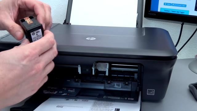 Hewlett-Packard Drucker originale neue Tintenpatronen werden nicht erkannt nach Wechseln - Druckerpatronen wurden normal gewechselt
