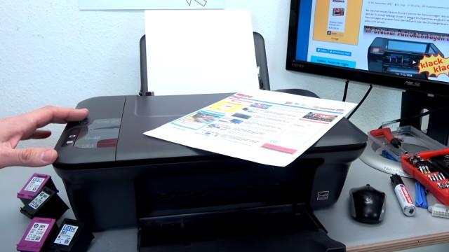 Hewlett-Packard Drucker originale neue Tintenpatronen werden nicht erkannt nach Wechseln - Kopieren funktioniert auch wieder ohne Probleme