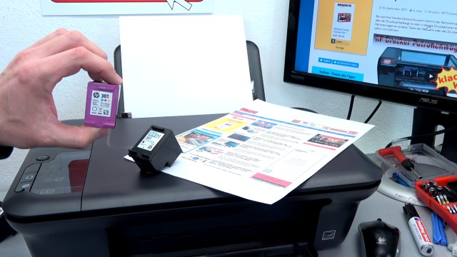 Hewlett-Packard Drucker originale neue Tintenpatronen werden nicht erkannt nach Wechseln - wiederholtes Druckerpatronen wechseln hilft nicht