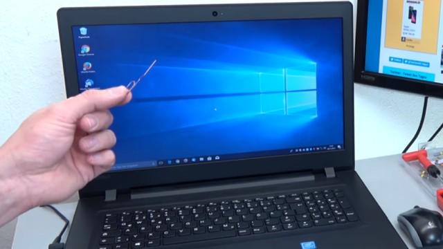 Lenovo Notebook BIOS starten - aufrufen mit Büroklammer - UEFI booten von USB DVD