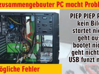 Neuer PC zeigt kein Bild - startet bootet nicht - erkennt USB SSD HDD nicht - selbst gebaut