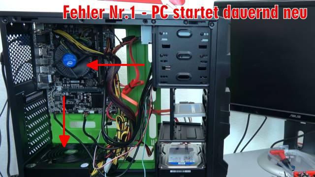 Neuer PC zeigt kein Bild - startet bootet nicht - erkennt USB SSD HDD nicht - selbst gebaut - PC startet dauernd neu