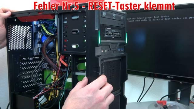 Neuer PC zeigt kein Bild - startet bootet nicht - erkennt USB SSD HDD nicht - selbst gebaut - Reset klemmt